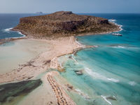 Balos Beach Cret Greece, Balos beach is on of the most beautiful beaches in Greece at the Greek Island