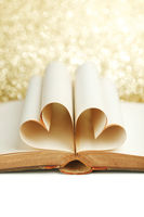 Book pages in heart shape