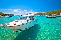 Palmizana bay on Pakleni Otoci islands turquoise yachting destination view