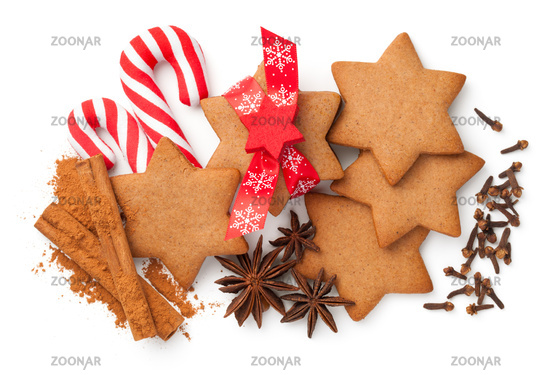 Gingerbreads Composition For Christmas