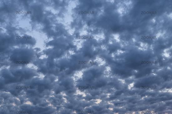 Dramatic evening cloudscape