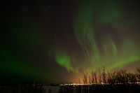 Northern lights from Heidmork, Iceland