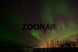Northern lights from Heidmork, Iceland