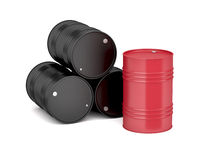 Oil drums on white
