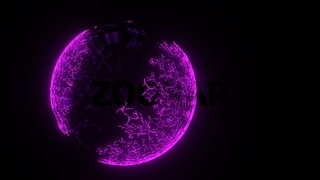 Abstract Purple Sphere