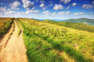 mountains hills landscape Bieszczady Poland