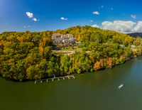 Falls colors surround townhouse development by Cheat Lake in Morgantown, WV