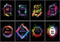 Modern Art Graphics Frames