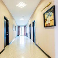 Hotel lobby corridor with modern design