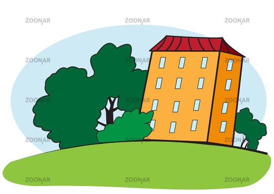 Multi storey house