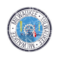 City of Milwaukee, Wisconsin vector stamp