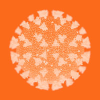 The orange Covid-19 virus