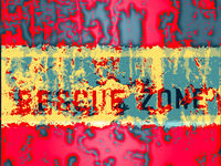 Red and yellow grunge background with fading words