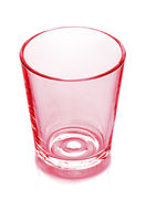 empty red glass isolated on white