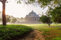 Tomb of Isa Khan Niazi, located near the Mughal Emperor Humayun's Tomb complex in New Delhi, India