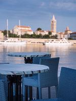 Port of rab on the island rab in croatia