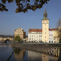 Bedrich Smetana Museum und Wasserturm am Smetana Kai, Prag