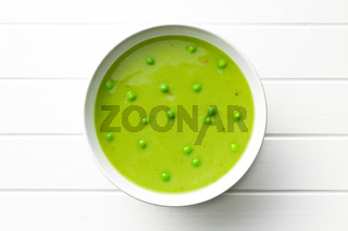 pea soup in plate