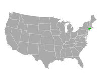 Karte von Connecticut in USA - Map of Connecticut in USA