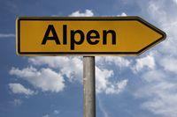 Wegweiser Alpen | signpost Alpen