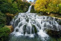 Orbaneja del Castillo waterfall in Burgos, Castilla y Leon, Spain.