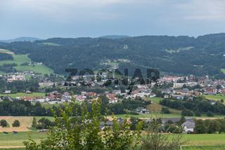 Anblick der Landgemeinde Aigen-Schlägl - Austria