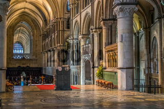 Interior View of Canterbury Cathedral
