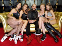Harley Dean, Tori Black, Greg Lansky, Kendra Sunderland and Riley Reid