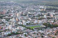 Skyline and stadium in Salta, Argentina