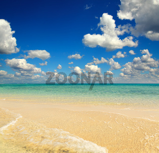 white sandy sea spit beach