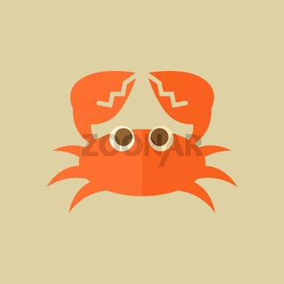 Crab. Food Flat Icon