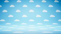 Empty Blank Cloud Shape Pattern Studio Background