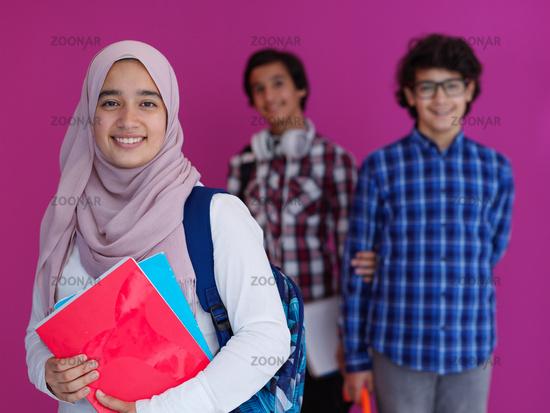 Arab teens group