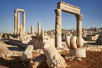 Hercules temple in Amman - Jordan