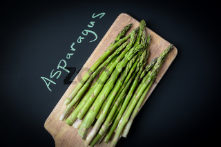 Asparagus Written on a Chalkboard