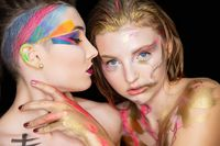 Two sexy young women with creative make-up