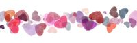 Colorful hearts isolated on white .Valentine's day background.