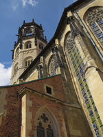 Münster - St Ludger's Church with crossing tower, Germany