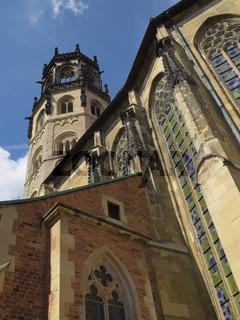 Münster - St. Ludgeri-Kirche mit Vierungsturm, Deutschland