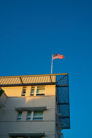 Flag on the roof of the American Embassy in Berlin