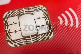 Chip einer EC - Bankkarte