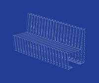 3D design of modern bench