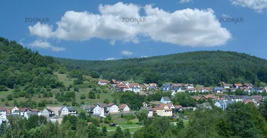 Heimbuchenthal in Spessart region,Bavaria,Germany