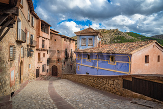 Streets of Albarracin, a picturesque medieval village in Aragon, Spain