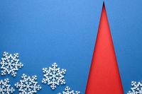 Christmas Minimal Concept With Red Christmas Tree