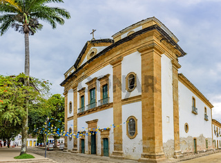 Famous church in the downtown of ancient and historic city of Paraty