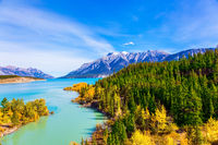The picturesque Abraham lake