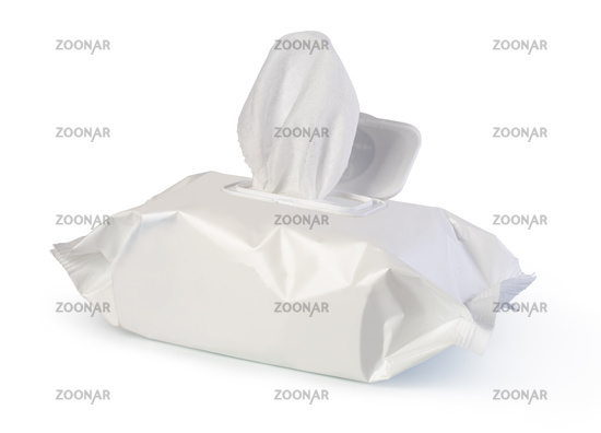 Open wet wipes flow pack