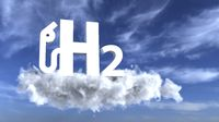 H2 gas pump symbol in the sky
