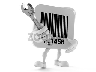 Barcode character with adjustable wrench